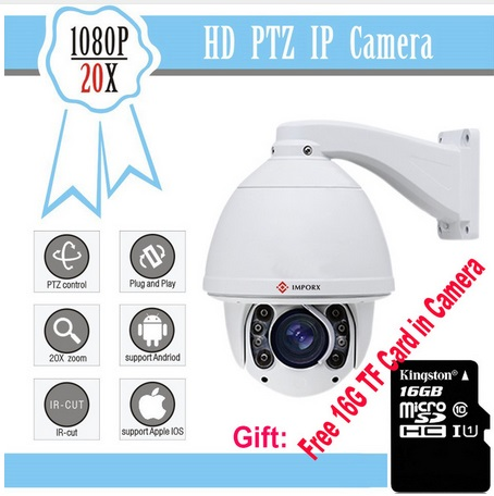 Blur IRIS 1080p auto tracking ip PTZ Camera PTZ ip zoom pan tilt Camera can send from EU cap eu to send carp