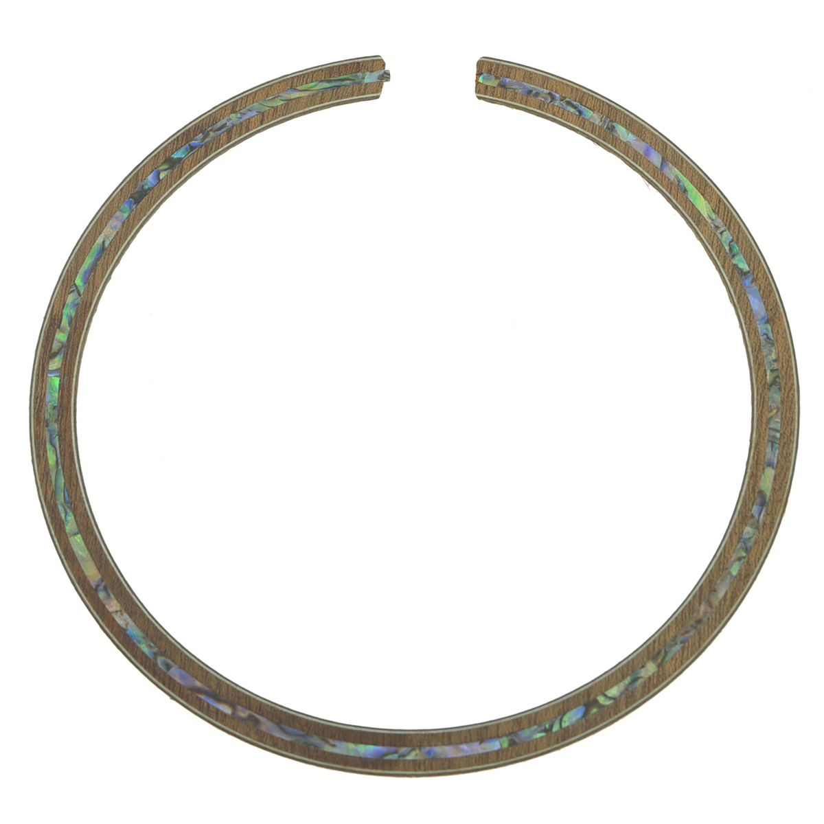 Dopro Acoustic Guitar Soundhole Sapelli Rosette with Full Abalone Shell Inlay 110mm*8mm*0.8mm yibuy 300 x acoustic guitar white bone abalone dot brass circle bridge end pins