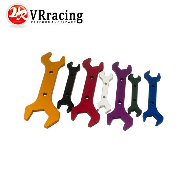 VR RACING AN Aluminum WRENCH HOSE Fitting tool aluminum Spanner DOUBLE ENDED AN3 AN20 7PCS SET