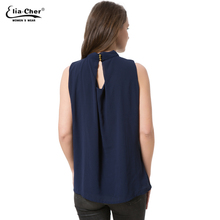 Chiffon Sleeveless Blouse 2017 Women Tops Elia Cher Brand Plus Size Causal Blouses Chic Elegant Lady Shirts Summer Tops Blusas