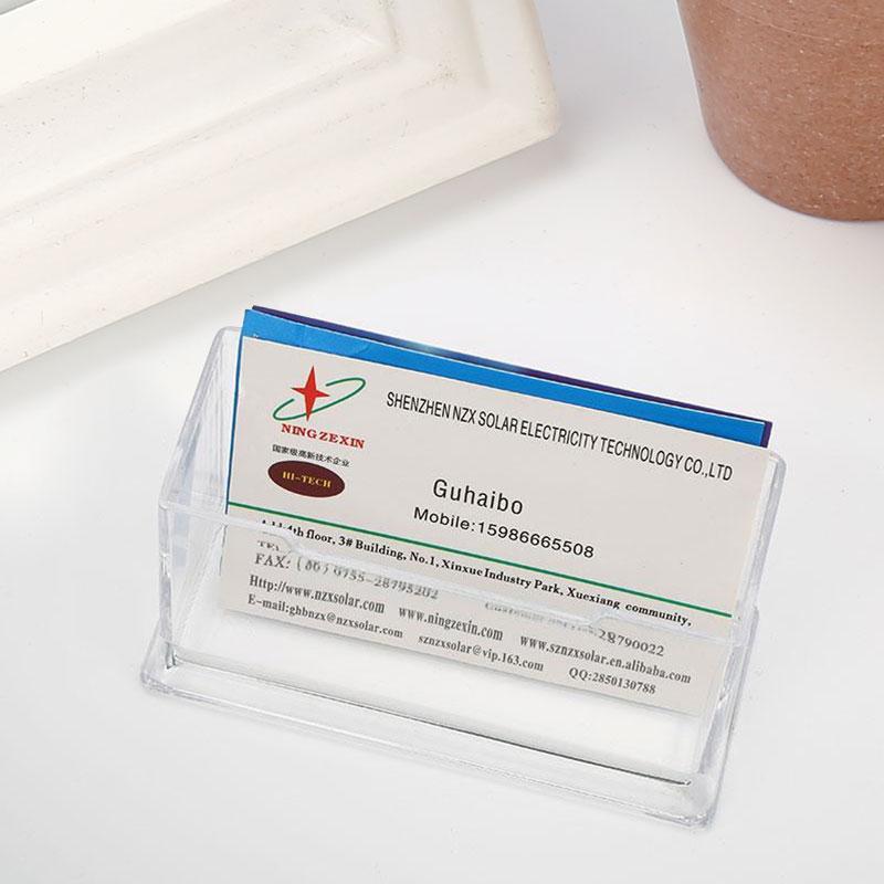 Transparent Klar Kunststoff Visitenkartenhalter Büro Zähler Display Ständer In Transparent Klar Kunststoff Visitenkartenhalter Büro Zähler