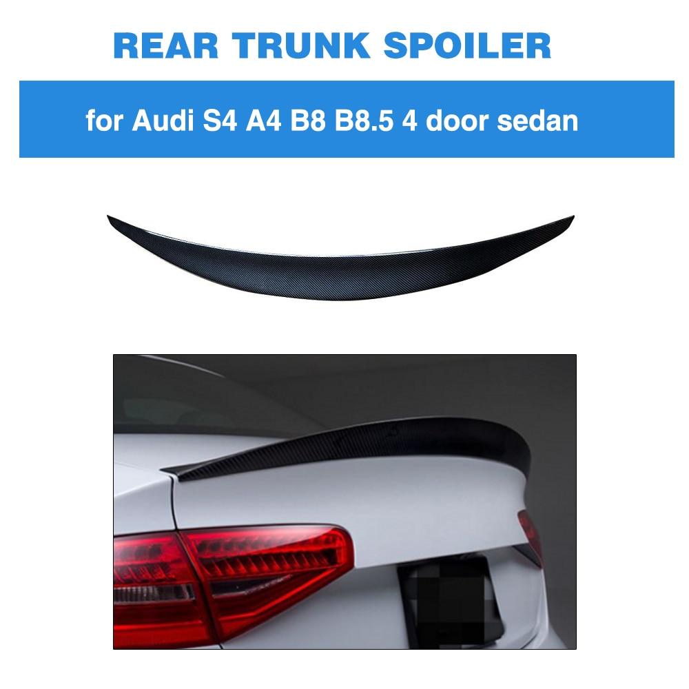 Audi A4 B8.5 2013 2014 2015 2016 De Fibra De Carbono Traseira Trunk Spoiler Boot Lip