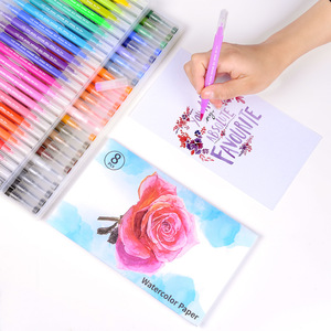 Image 5 - Dainayw 100Colors Dual Brush Markers Pen Fine Tip Drawing Painting Water inks Pens for Coloring Manga Calligraphy Graffiti