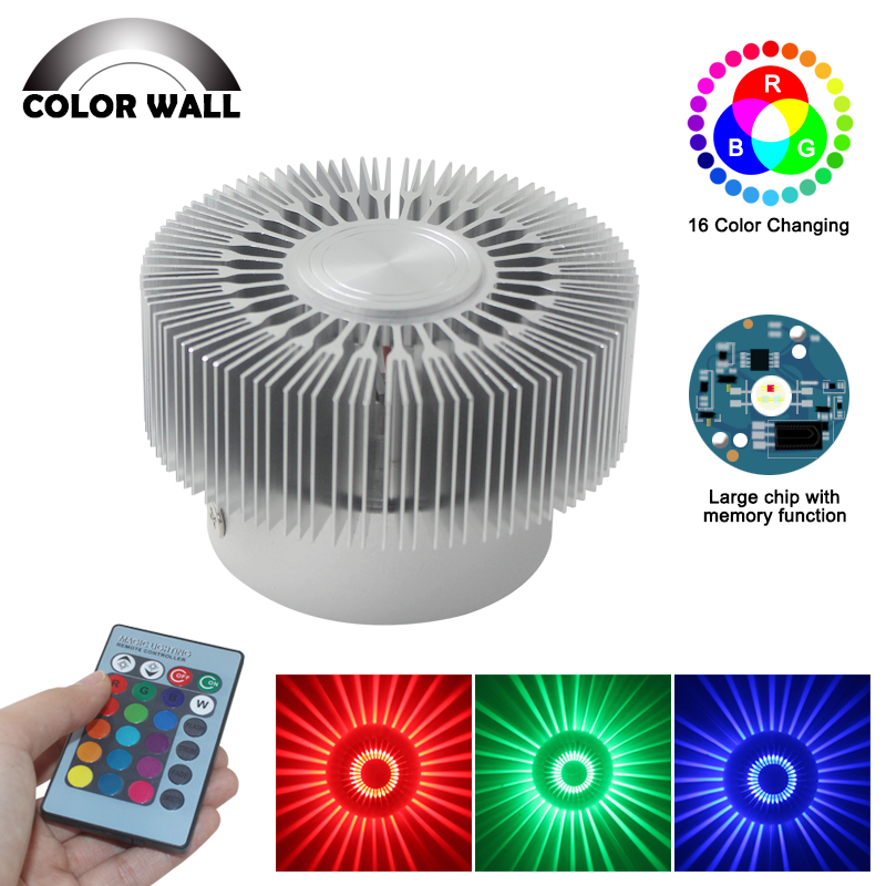 3w Sun Flower Wall Light Fixture Modern Indoor Wall Lamp For Living Room Ktv Bar Ceiling Luminary Led New Year Decoration