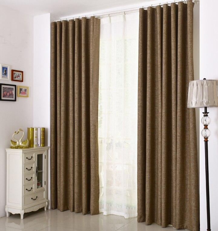 Ready made blackout lino s lido tejido de aspecto moderno cortinas para sala cortina de la - Cortinas lino beige ...