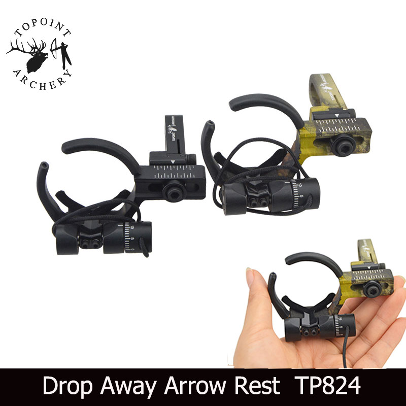Aluminum Drop Away Arrow Rest Full Containment Hunting Archery Compound Bow RH