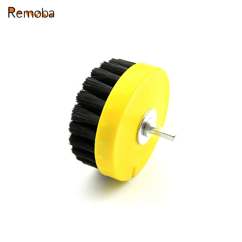 dia 110mm black drill power scrub clean brush for leather plastic wooden furniture car. Black Bedroom Furniture Sets. Home Design Ideas