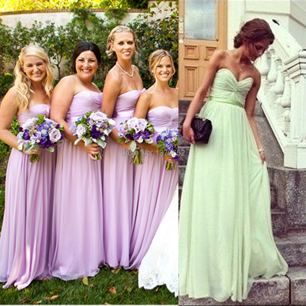 Online shop 2015 strapless mint green lilac purple bridesmaid online shop 2015 strapless mint green lilac purple bridesmaid dresses chiffon long maid of honor dress sweetheart fast shipping mb002 aliexpress mobile ombrellifo Gallery