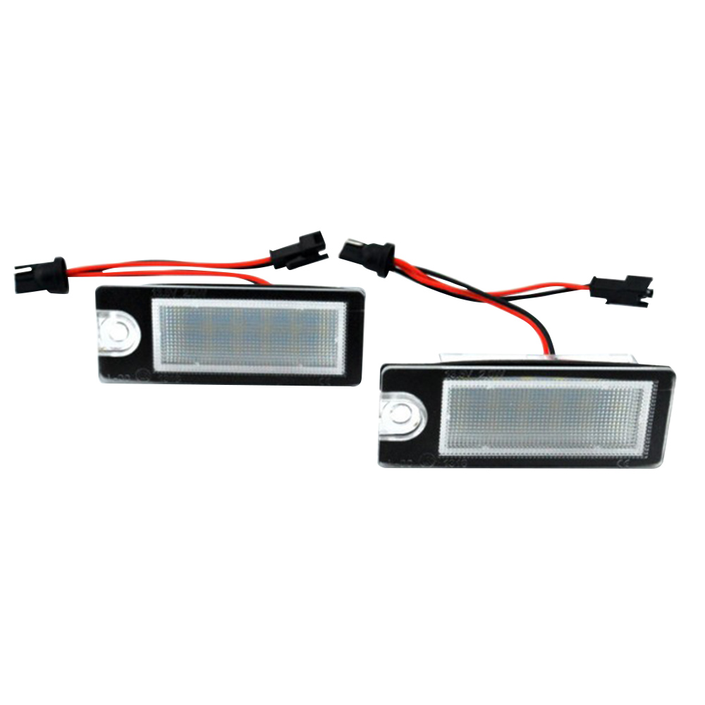 2 pçs/set 18 Número LEVED License Plate Lamp Luz para Volvo Carro S80 99-06 S60 V70 XC70 XC90