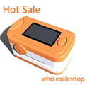New Free Shipping OLED Fingertip Pulse Oximeter With Audio Alarm & Sound - Spo2 Monitor Orange Finger Pulse Oximeter