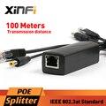 Xinfi DC 12 В IEEE802.3af POE Адаптер Инжектор Splitter Разъем Активные 10/100 Мбит/С Для Камер IP VoIP Телефон AP 12 В/1A Выход