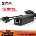 Xinfi DC 12 V Conector Ieee 802.3af POE Adaptador Inyector Divisor Activo 10/100 Mbps Para Cámaras IP VoIP Teléfono AP 12 V/1A Salida