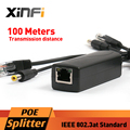 Xinfi DC 12V POE Adapter Injector Splitter Connector IEEE802.3af Active 10/100Mbps For IP Cameras VoIP Phone AP 12V/1A Output