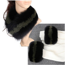 Natural Real Fox Fur Scarves Collar Jacket Woman Sleeve Warm Coat Fur Collar And Sleeves Free Shipping Fur Scarf  L29
