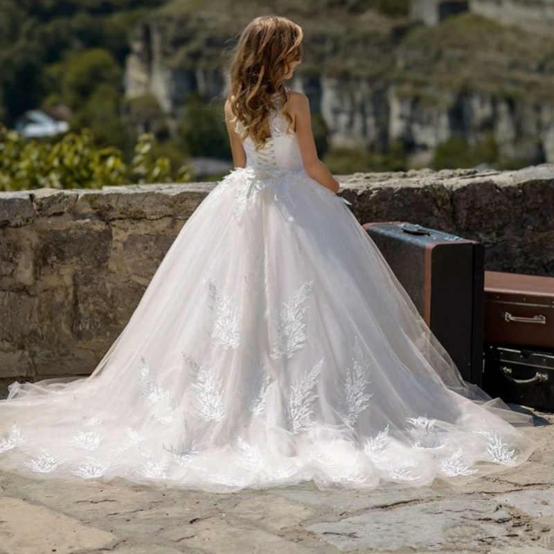 Платья с цветочным узором для девочек на свадьбу, детское нарядное платье, платья для первого причастия для маленьких детей, вечерние платья для выпускного вечера 2019