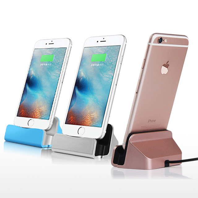 Luxury Sync Data Fast Charging Dock Station Cellphone Desktop Docking Charger Usb Cable For Le Iphone