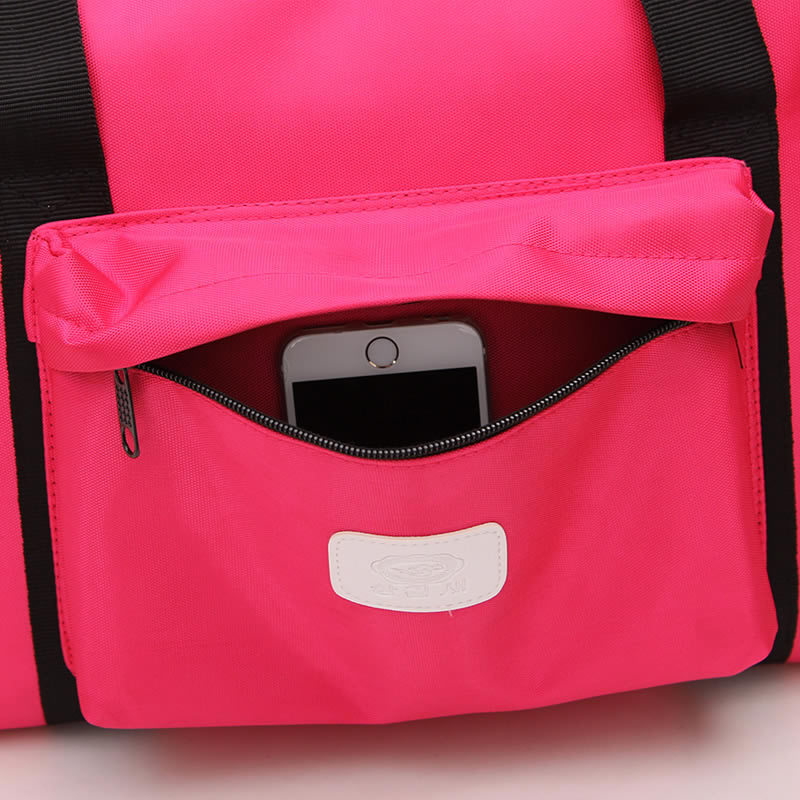 2018 New Gym Bag Sports Bag Waterproof Outdoor Travel Handbag Candy Color Sports Fitness Bag For Women