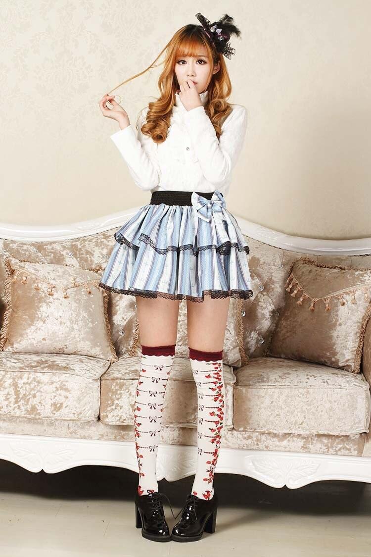 Punk Lolita Mini Skirts Striped Cross Printed Micro Skirt Female Sexy Skirts Sweet Women Girls Japan Fashion High Quality skirt Пижама