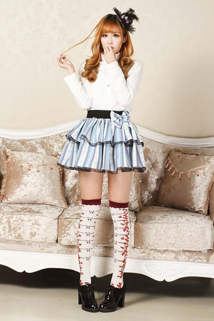 Aliexpresscom  Buy Punk Lolita Mini Skirts Striped Cross -6284