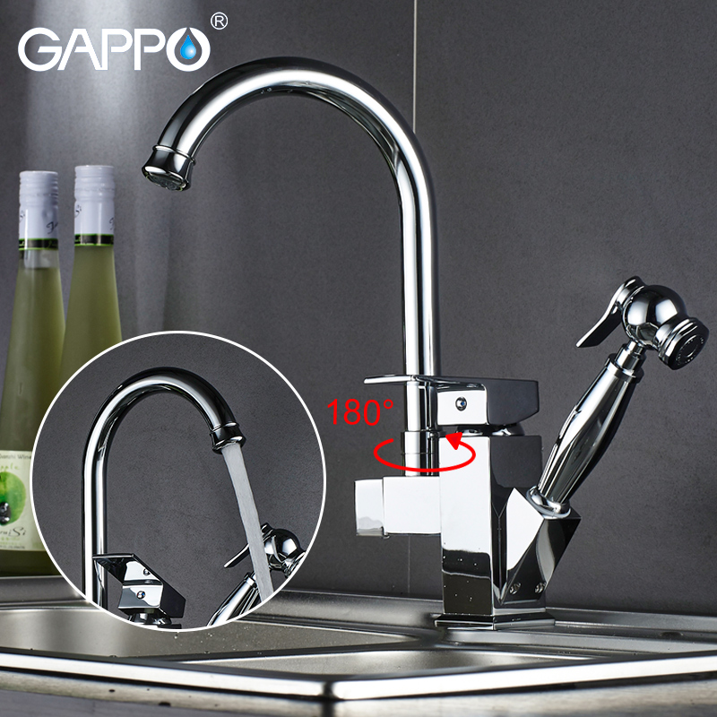 Gappo Kitchen Faucets Rotatable Kitchen Sink Faucet Kitchen Tap Pull Out Water Sink Deck Mountedmixers Tap Deck Mounted