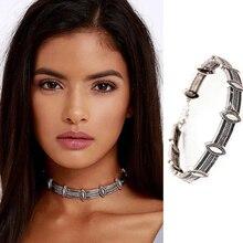 2016 Nueva Hot Boho Collar de Joyería de Las Mujeres Declaración Collar Gargantilla de Plata Moda Vintage Estilo Étnico Bohemio Cuello Collier Femme