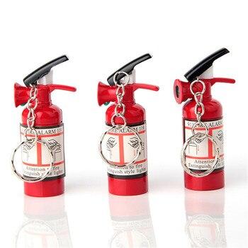 No Gas Funny Extinguisher Shape Refillable Gas Cigarette Lighter Stainless Steel Kerosene Oil Lighter Gadget For Man Till U fill gadget