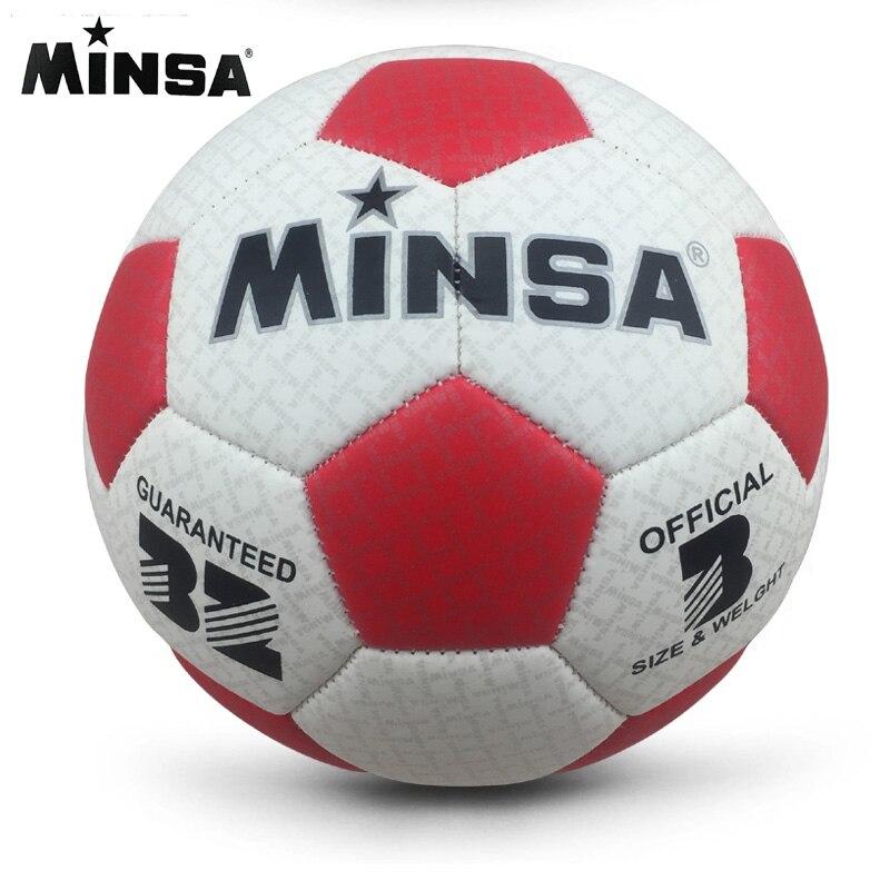 2018 New Brand MINSA High Quality A++ Standard Soccer Ball PU Soccer Ball Training Balls Football Official Size 3  ball soccer balls size 4