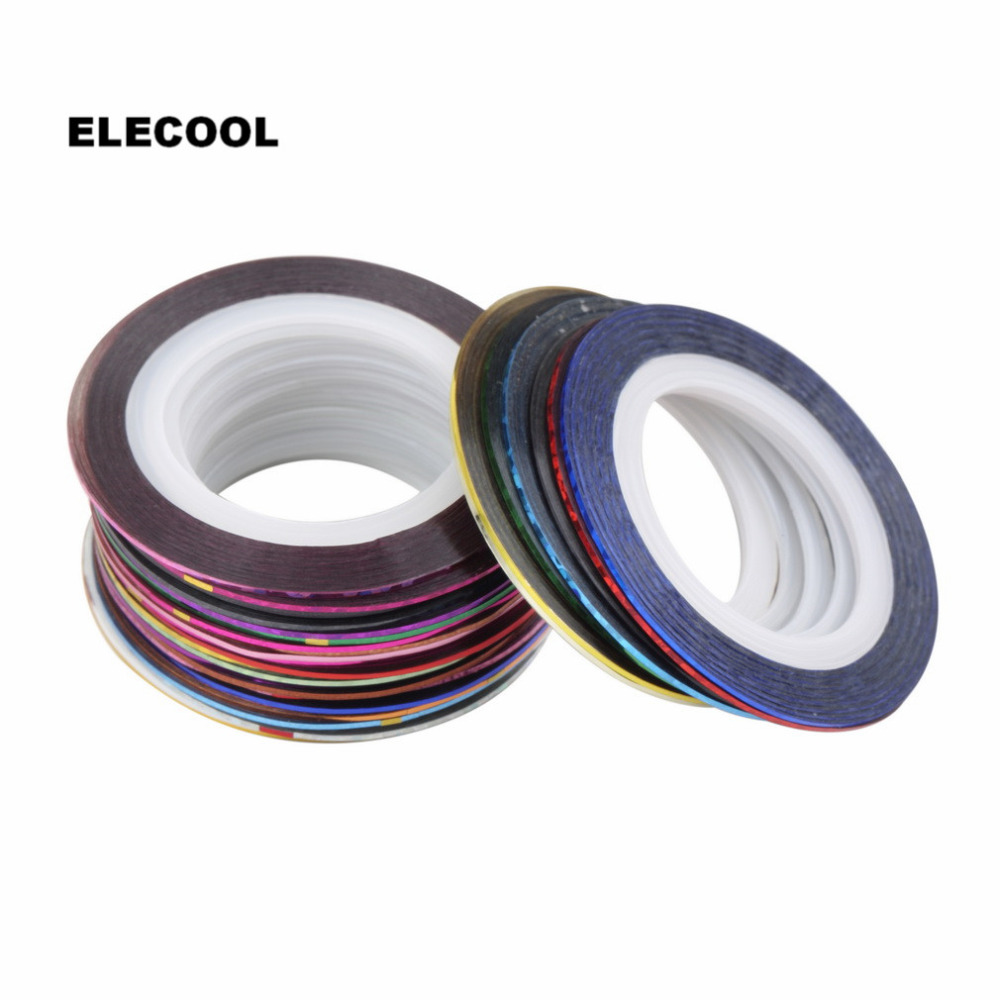 Aliexpress.com : Buy ELECOOL Mix Color Nail Art Striping