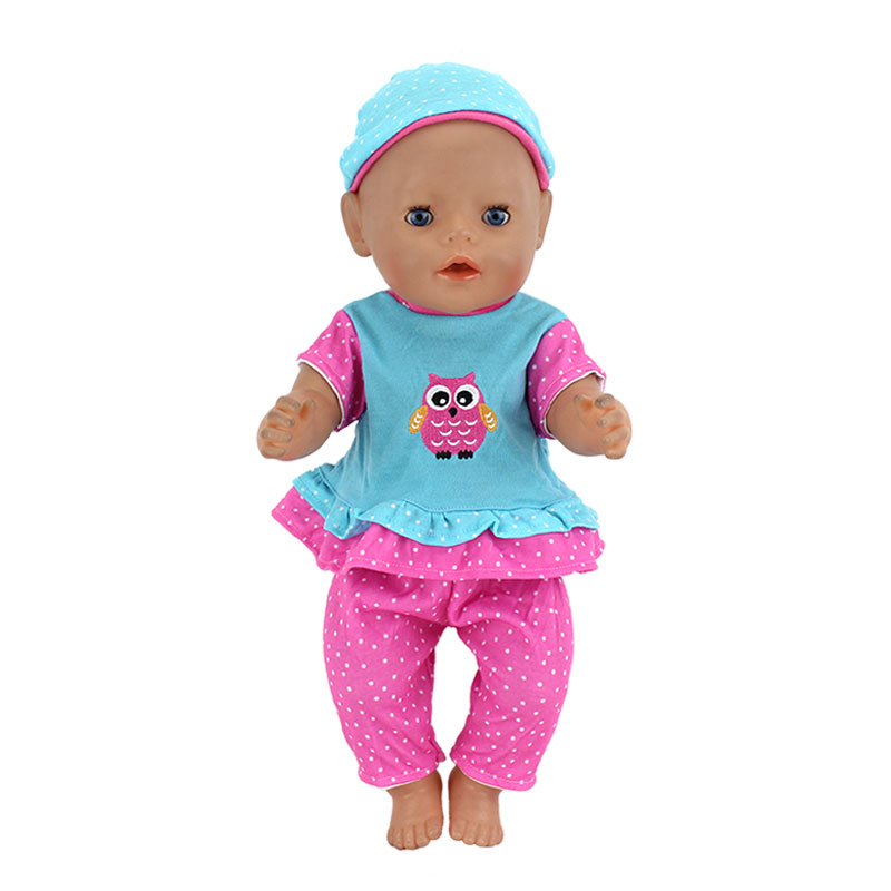15style Color Choose Set Clothes Wear For 17 Inch 43cm Baby Doll, Children Best Birthday Gift