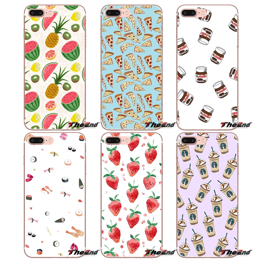 Food Pattern Wallpaper Tumblr Phone Case For Samsung Galaxy