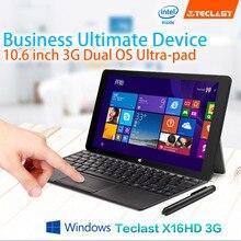 Newest10.6 Inch Teclast X16HD 3G Dual System  Z3735f/Z3736f  Tablet PC Android4.4+Windows8.1 1920x1080  2GB DDR3L 32/64GB