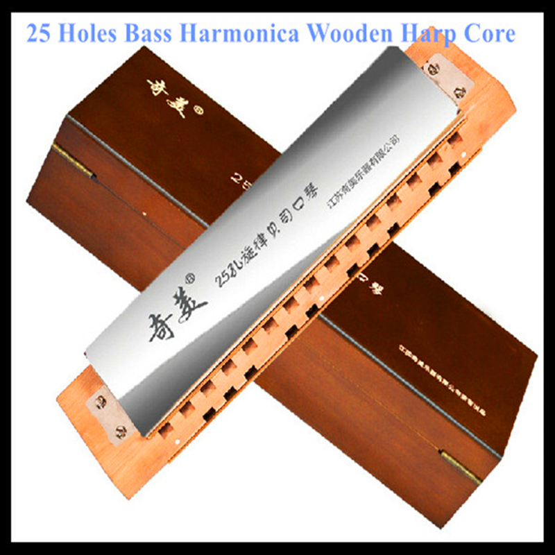 Bass Harmonica 25 Hole Armonica a Bocca WoodenCore Musical Instrument Mouth Ogan Harp China Famous Brand Bass Harmonica 25 Hole