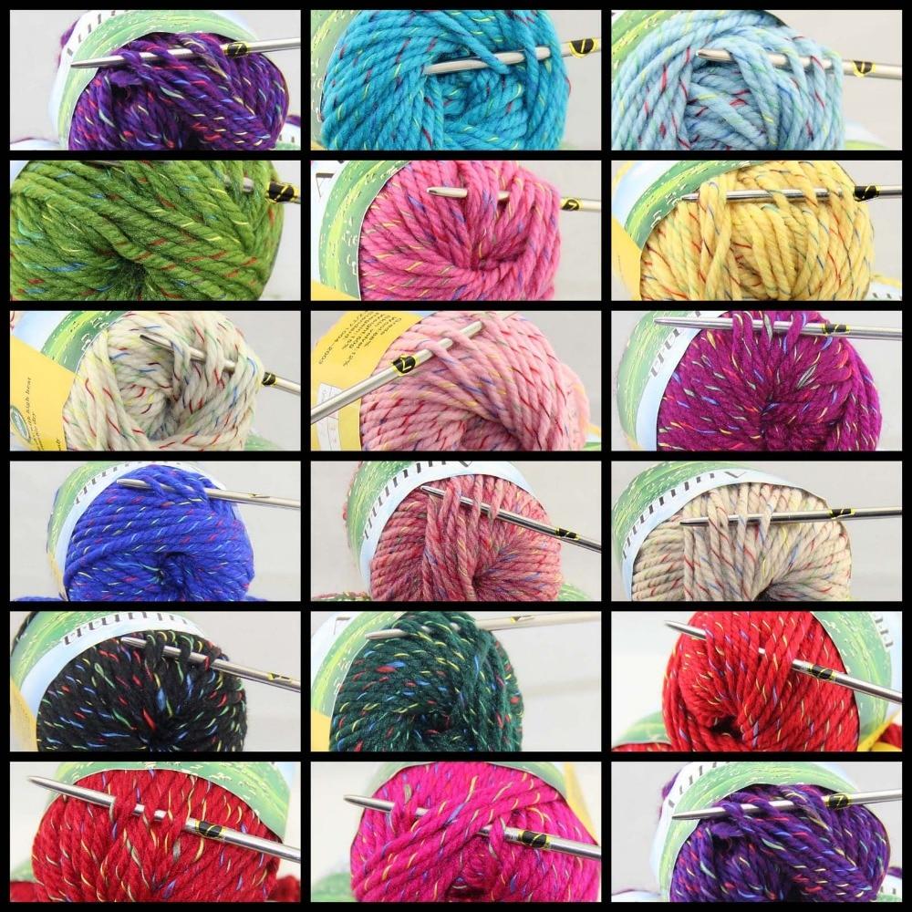 Lot Of 1 Balls X 50gr Chunky Thick Soft Wool Hand Yarn
