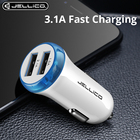 Jellico 5V 3.1A Mini Dual USB Car Charger Fast Charging Car Charger Mobile Phone Auto Charge for iPhone XS MAX X 8 7 6 Samsung