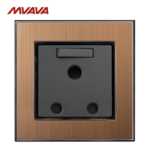 MVAVA 15A Switched Wall Decorative Socket South Africa Standard Plug 3 Round Pin Receptacle With 1 Gang Panel Free Shipping