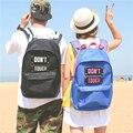 НОВАЯ мода harajuku письмо ИГРАТЬ ТРУДНО, и НЕ ТРОГАЙТЕ рюкзак пары школьный мужчины и женщины отдыха и путешествий сумка