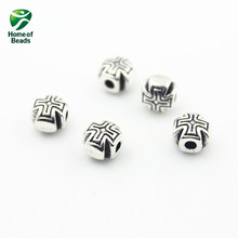 2017 New Fashion Wholesale Antique Silver Cross Alloy Beads Accessories For Making Jewelry (50pcs/lot)  ZA1014