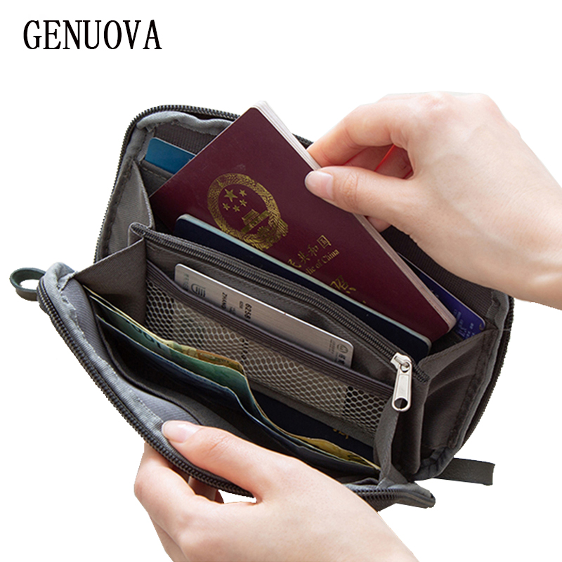 Travel Passport Package Creative Nylon Passport Storage Organizer Men's And Women's Hand Hold ID Card Case Multi Pockets Wallet