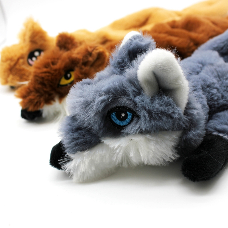 Cute Plush Toys Squeak For Dogs Chew Squeaker Pet Squeaky Animal Shaped Toy Squirrel  Dog Cat Toy Pet Supplies 15