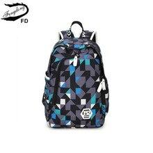 FengDong водонепроницаемой ткани рюкзаки для девочек-подростков мужчина рюкзак мужчины дорожные сумки мода женщины печать рюкзак для ноутбука 14