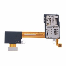 Lightweight Standard Size Sim Card TF Card Slot Holder Flex Cable For Sony Xperia M2 S50H D2303 D2305 D2306