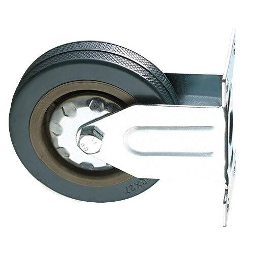 Furniture Hardware Set Of Heavy Duty 100x27mm Rubber Swivel Castor Wheels Trolley Caster Brake 25kgmodel:4