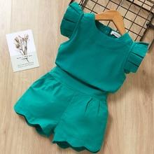 Conjuntos de ropa para niñas de verano marca Bebés Ropa camiseta + pantalón Vestido 2 piezas