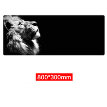 2019 New Style Large Mouse Pad Staring Lion Gaming Mouse Pad Keyboard Pad Desk Pad Laptop Mat Computer Mousepad with Loacedge