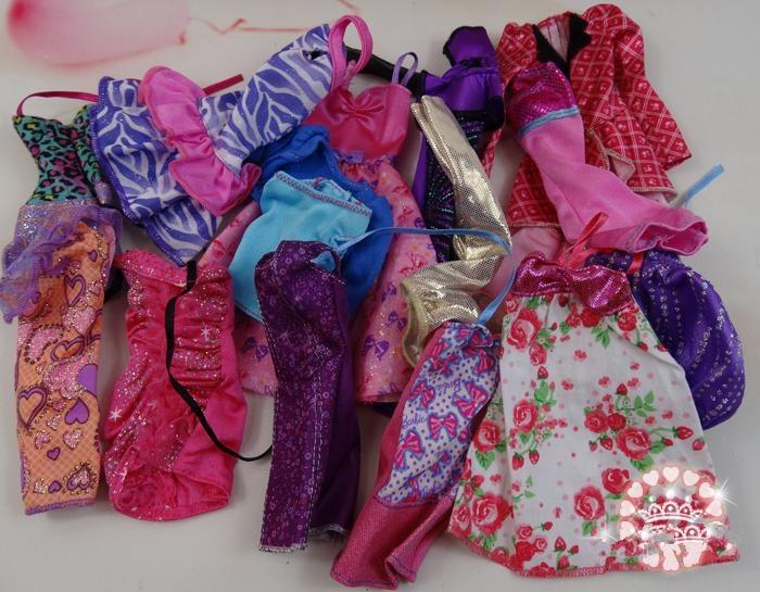 AILAIKI Toy 100pcs / lot Pakaian Jenama Asal Jenama Pakaian Bergaya - Anak patung dan aksesori - Foto 3