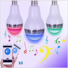 Smart LED Bulb Bluetooth Speaker RGB Bulb LED Light E27 Wireless Music Player with APP Remote Control Home Bedroom Lighting