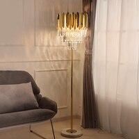 Modern European D460mm H1600mm Golden K9 Crystal Floor Light Indoor Lamp Nordic Candelabra for Floor Lamp LED AC 100% Guaranteed