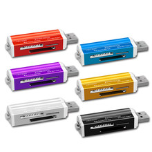 Para Micro SD SDHC TF MMC MS PRO DUO Tudo em 1 M2 USB 2.0 Multi-função de Cartão de Memória leitor