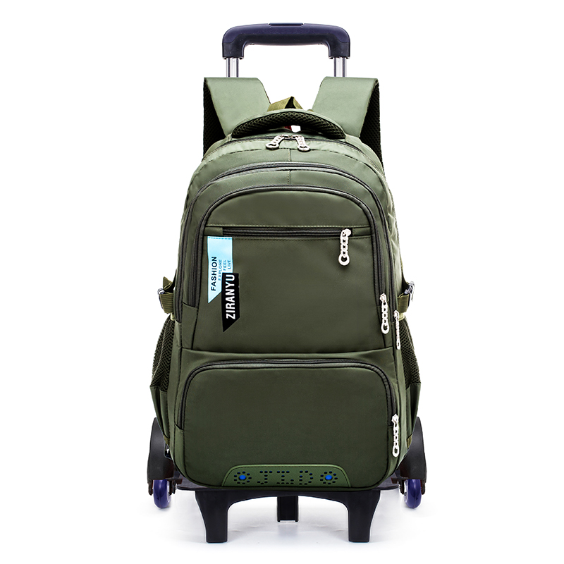 OKKID detachable stair climbing trolley school bag kids wheeled backpack boy rolling luggage bag children school bags for boys OKKID detachable stair climbing trolley school bag kids wheeled backpack boy rolling luggage bag children school bags for boys
