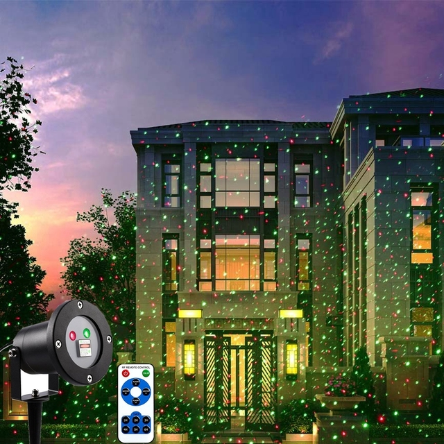 holigoo outdoor laser light with remote control christmas laser projector ip65 waterproof red green laser for